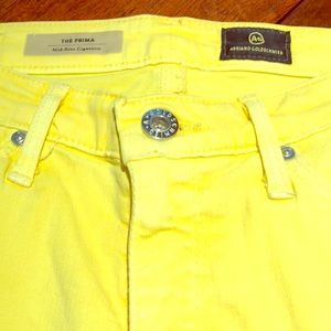 ADRIANO GOLDSCHMIED YELLOW 25R JEANS